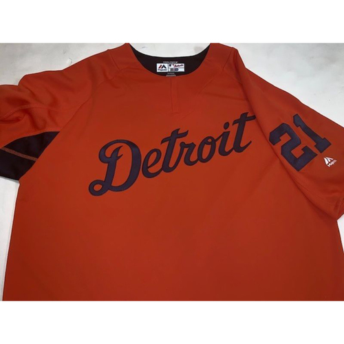Photo of Team-Issued #21 Road Batting Practice Jersey