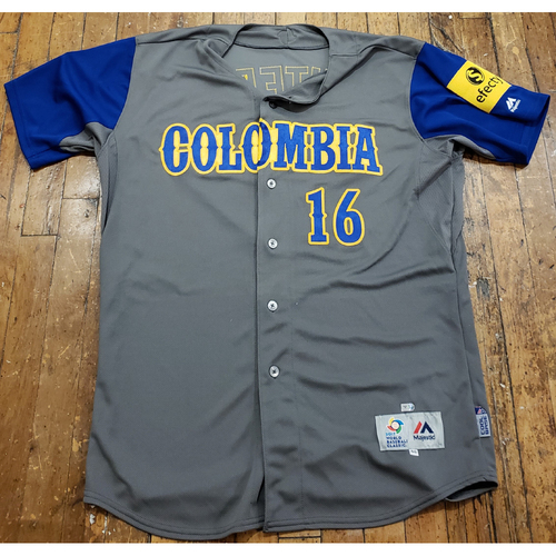 Photo of 2017 World Baseball Classic Game Used Jersey - Edgar Renteria - Size 46 (Columbia)