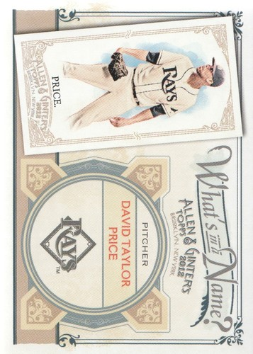 Photo of 2012 Topps Allen and Ginter What's in a Name #WIN77 David Taylor Price