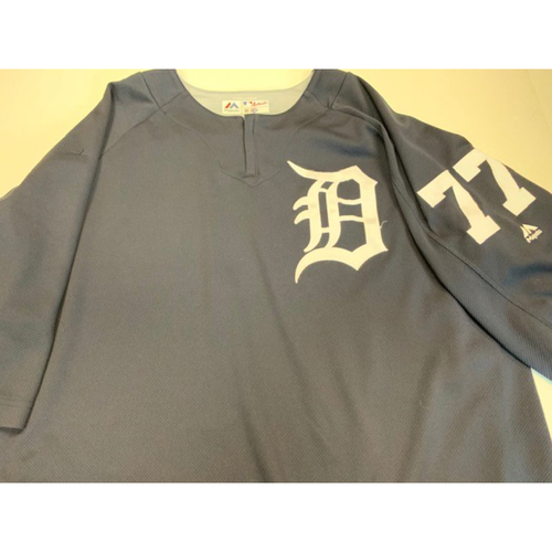 Photo of 2018 Team-Issued #77 Home Batting Practice Jersey