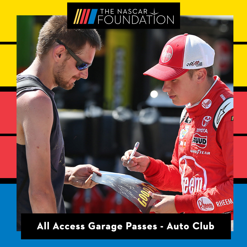 All Access Garage Passes at Auto Club Speedway!