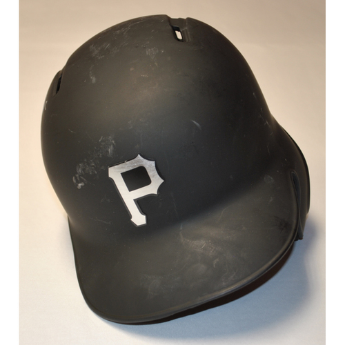 "Photo of Jacob ""STALLS"" Stallings Pittsburgh Pirates Game-Used 2019 Players' Weekend Helmet"