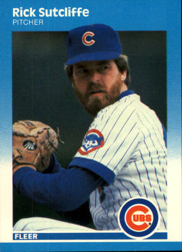 Photo of 1987 Fleer #576 Rick Sutcliffe