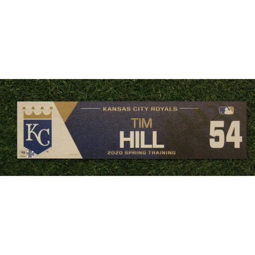 Photo of Game-Used Spring Training Locker Tag: Tim Hill #54
