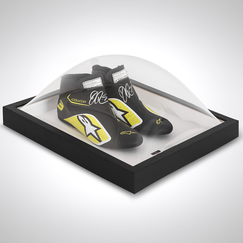 Photo of Daniel Ricciardo 2020 Framed Signed Race-worn Boots - Russian Grand Prix