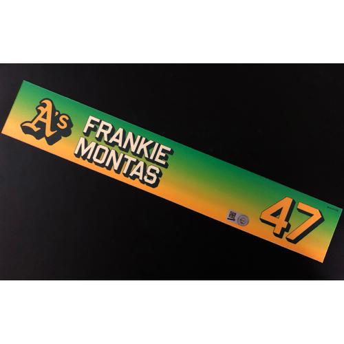 Photo of Game-Used 2020 Season Locker Nameplate - Frankie Montas