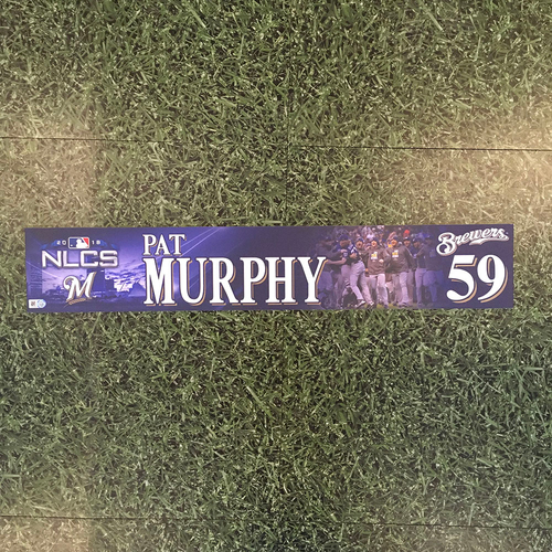 Photo of Pat Murphy 2018 Game-Used Postseason (NLCS) Locker Nameplate