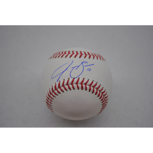 Photo of Autographed Lou Gehrig Day Baseball - Jake Bauers