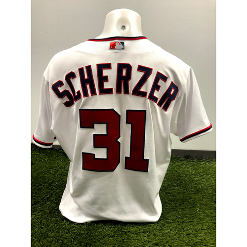 Photo of Max Scherzer Game-Used 2021 Opening Day Jersey