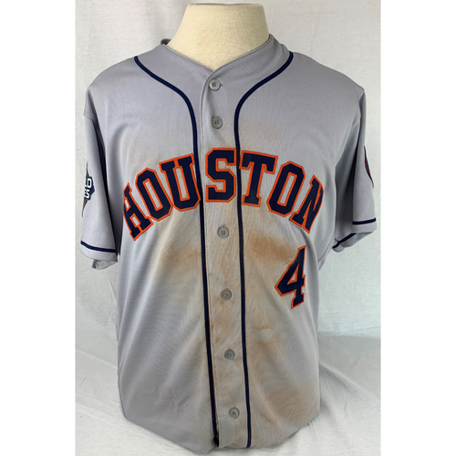 George Springer 2019 World Series Game-Used Jersey - Game 3