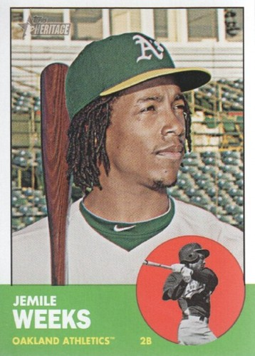 Photo of 2012 Topps Heritage #354 Jemile Weeks RC