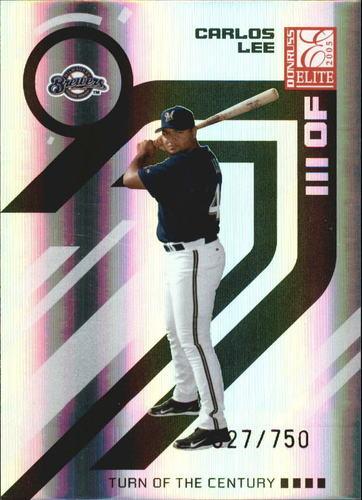 Photo of 2005 Donruss Elite Turn of the Century #41 Carlos Lee