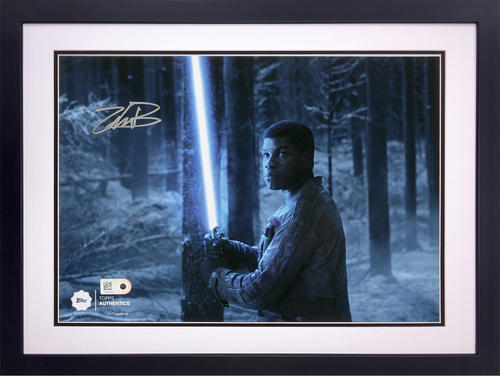 John Boyega as Finn at the Battle of Starkiller Base Autographed Silver Ink 8x10 Framed Photo