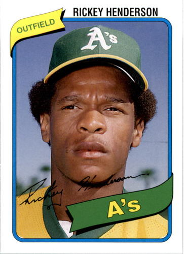Photo of 2006 Topps Rookie of the Week #21 Rickey Henderson 80