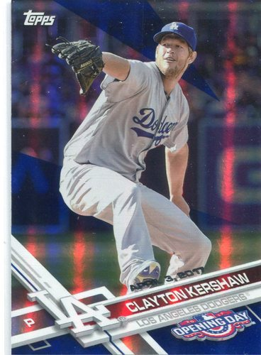 Photo of 2017 Topps Opening Day Blue Foil #50 Clayton Kershaw