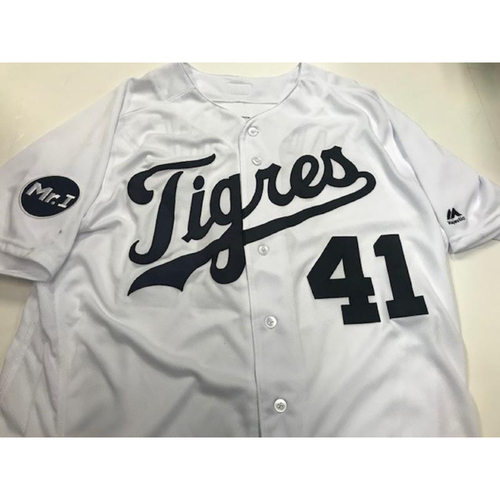 Photo of Game-Used Fiesta Tigres Jersey: Victor Martinez