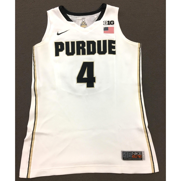 Photo of Thornton #4 Purdue Women's Basketball 2013-14 White Jersey
