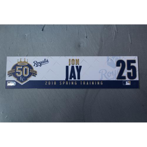 Photo of Spring Training Locker Nameplate: Jon Jay