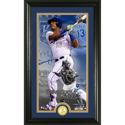 Photo of Salvador Perez Supreme Bronze Coin Photo Mint