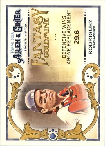 Photo of 2018 Topps Allen and Ginter Fantasy Goldmine #FG48 Ivan Rodriguez
