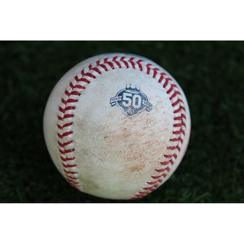 Photo of Game-Used Baseball: Max Kepler 330th Career Hit (MIN @ KC - 9/14/18)