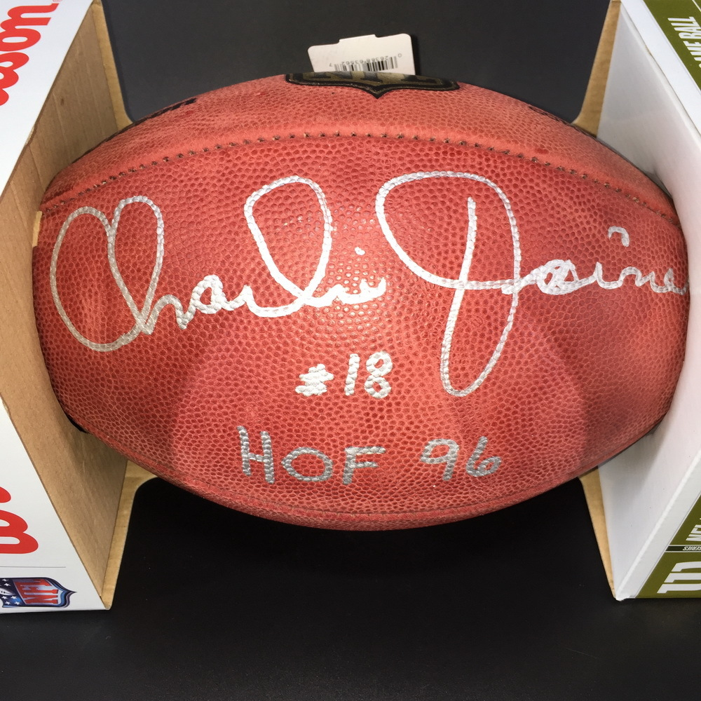 HOF - Chargers Charlie Joiner Signed Authentic Football