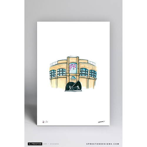 Photo of Guaranteed Rate Field Sketch - Limited Edition Print 5/42 by S. Preston
