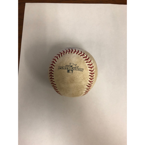 Photo of Detroit Tigers at Boston Red Sox October 19, 2013 ALCS Game 6 Game Used Ball