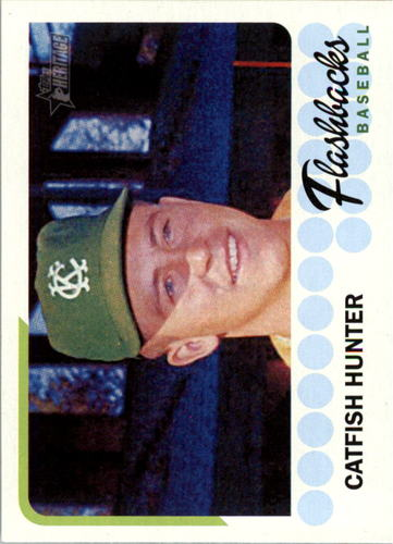 Photo of 2016 Topps Heritage Baseball Flashbacks #BFCH Catfish Hunter