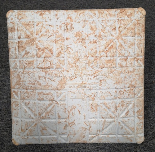 Photo of Authenticated Game Used Base: 2nd Base for Innings 1 to 3 (Aug 27 - 28, 19 vs ATL): Josh Donaldson's 1st Game in Toronto since being traded