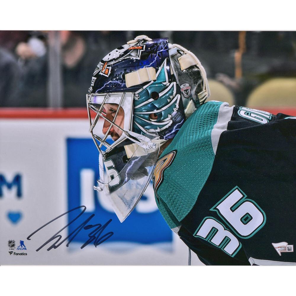 John Gibson Anaheim Ducks Autographed 11