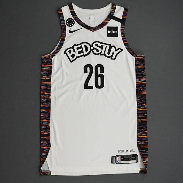 Image of Spencer Dinwiddie - Brooklyn Nets - 2020 Taco Bell Skills Challenge - Event-Worn City Edition Jersey