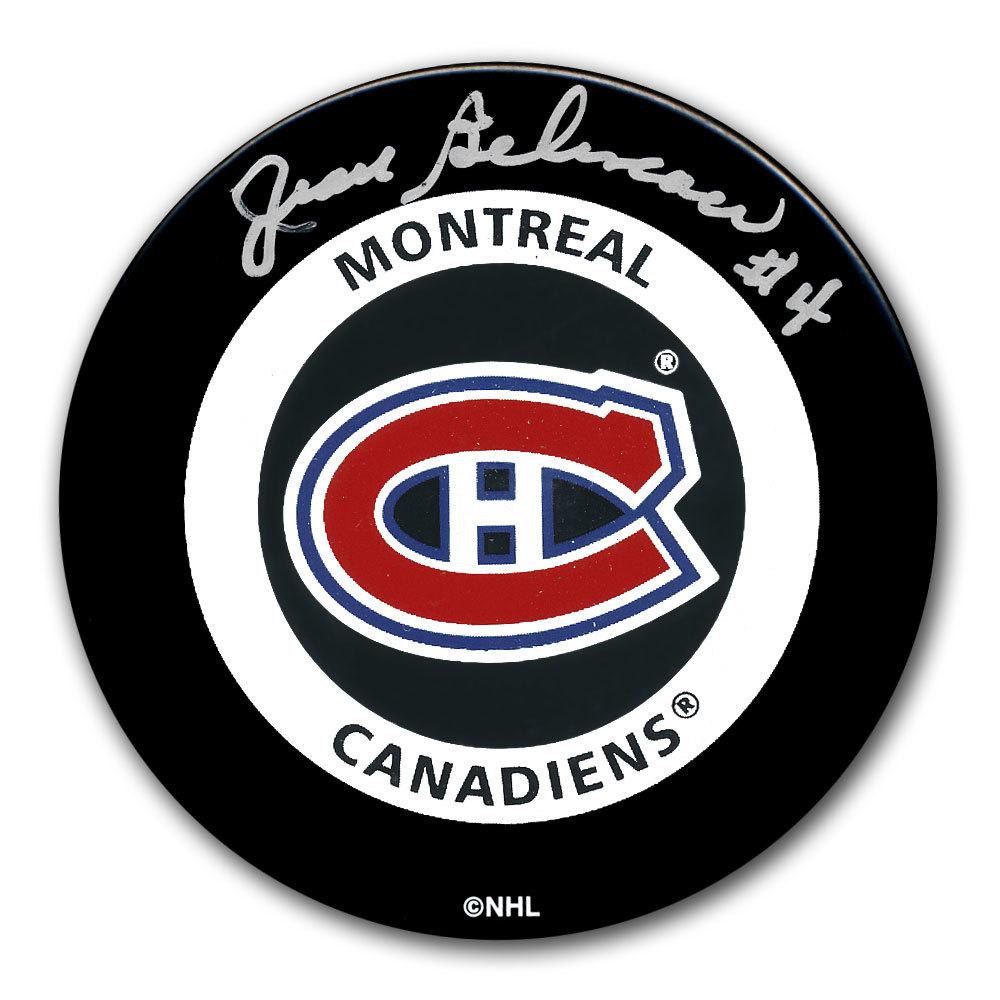 Jean Beliveau Montreal Canadiens Autographed Official Game Puck