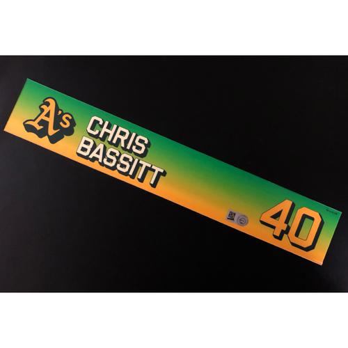 Photo of Game-Used 2020 Season Locker Nameplate - Chris Bassitt