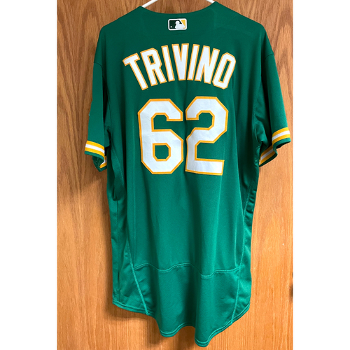 Photo of Lou Trivino Game-Used 2020 Jersey