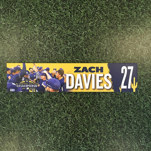 Photo of Zach Davies 2019 Team-Issued Spring Training Locker Nameplate