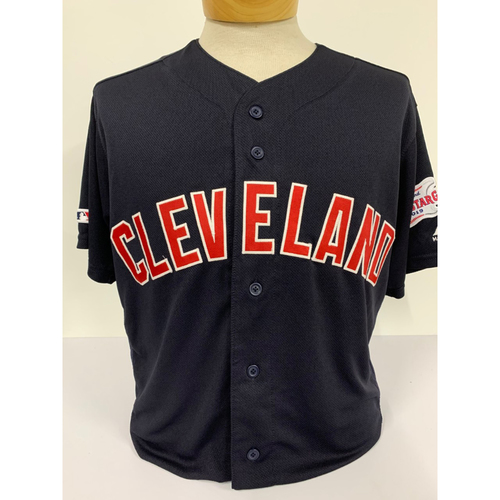 Photo of Game-Used Leonys Martin Navy Jersey - 3/28/2019 - Indians at Twins