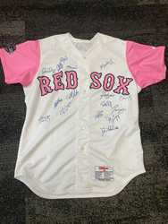 Photo of Salem Red Sox 2012 Breast Cancer Awareness Autographed Jersey