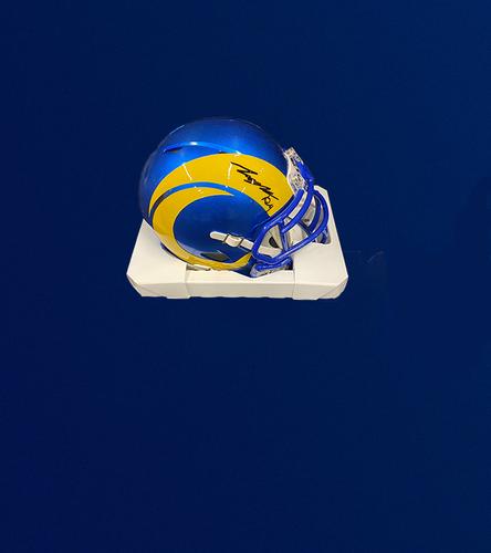 Photo of Taylor Rapp Signed Mini-Helmet