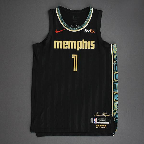 Image of Kyle Anderson - Memphis Grizzlies - Game-Worn City Edition Jersey - Single-Game Team Playoff Record 6 Steals - 2021 NBA Playoffs