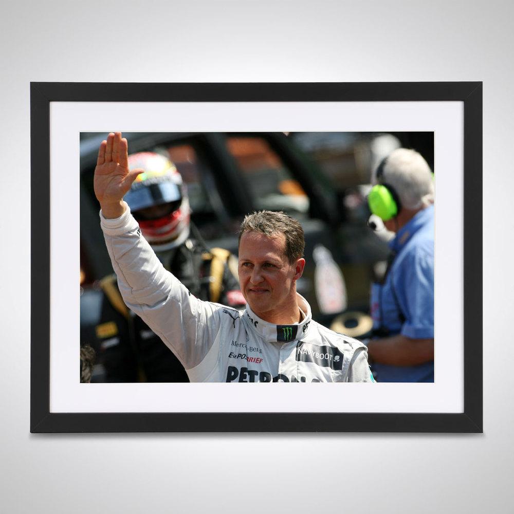 Michael Schumacher 2012 Parc Ferme Monaco - James Moy Print