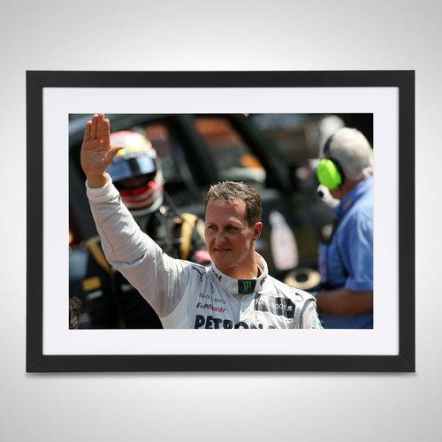 Photo of Michael Schumacher 2012 Parc Ferme Monaco - James Moy Print