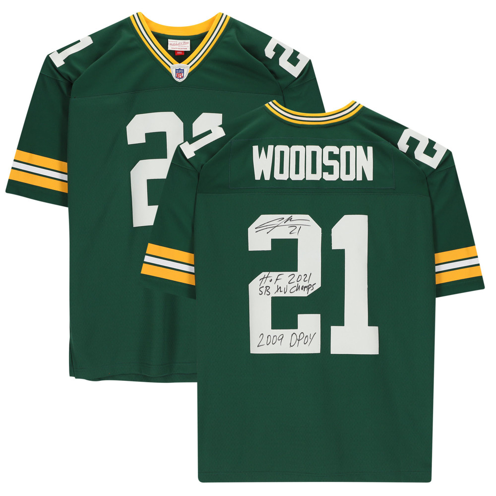 Charles Woodson Green Bay Packers Autographed & Inscribed Green Mitchell & Ness Replica Jersey - Limited Edition #1/21