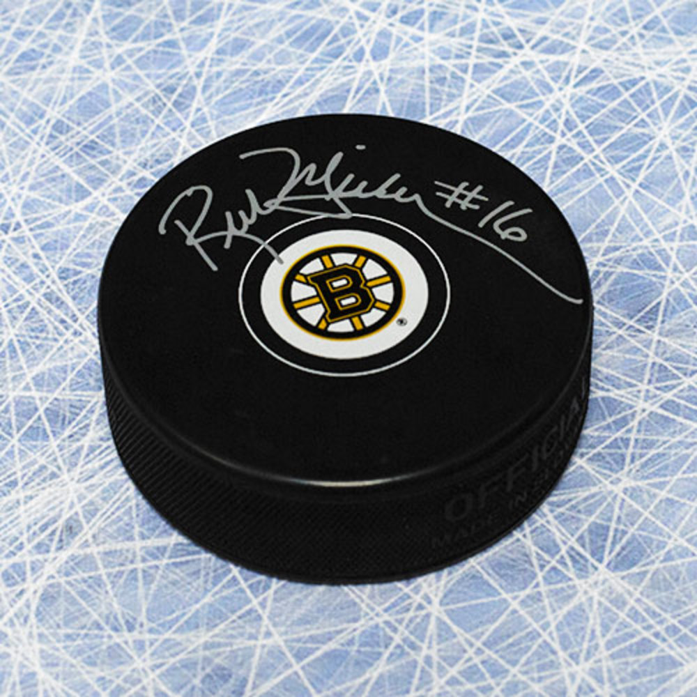 Rick Middleton Boston Bruins Autographed Hockey Puck