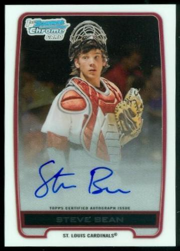 Photo of 2012 Bowman Chrome Draft Draft Pick Autographs #SB Steve Bean
