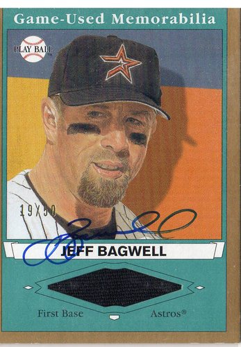 Photo of 2003 Upper Deck Play Ball Game Used Memorabilia Tier 2 Signatures #JB2 Jeff Bagwell Jsy