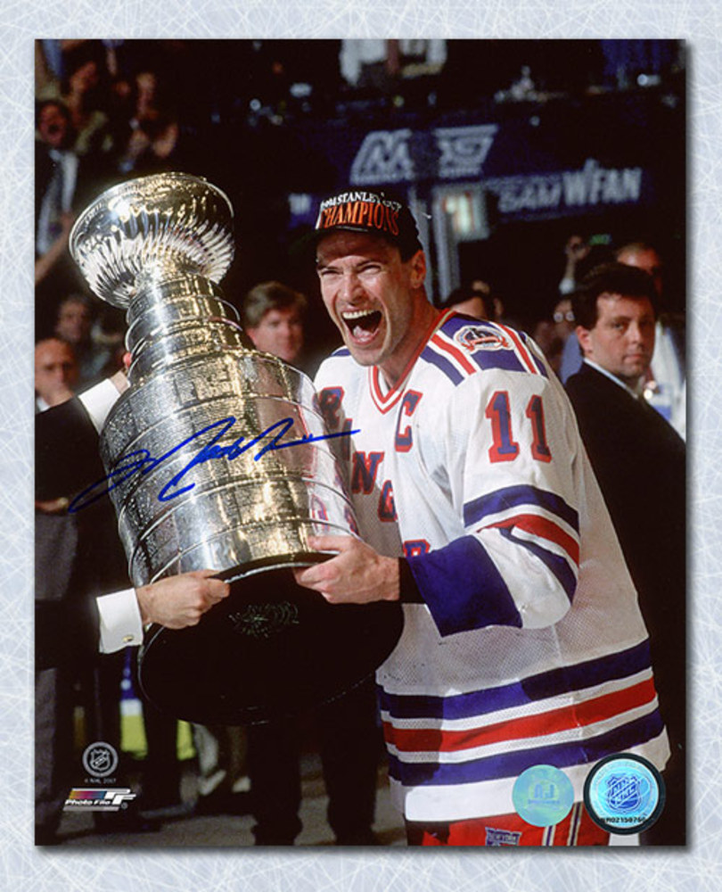 Mark Messier New York Rangers Autographed 1994 Stanley Cup 8x10 Photo