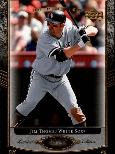 Photo of 2007 Upper Deck Premier #80 Jim Thome /99