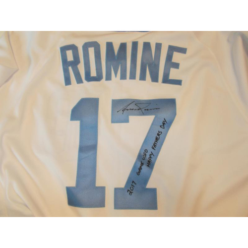 Autographed Game-Used Father's Day Jersey: Andrew Romine
