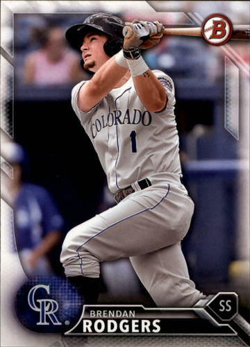 Photo of 2016 Bowman Draft #BD150 Brendan Rodgers -- Ranked #14 of MLB's Top 100 Prospects
